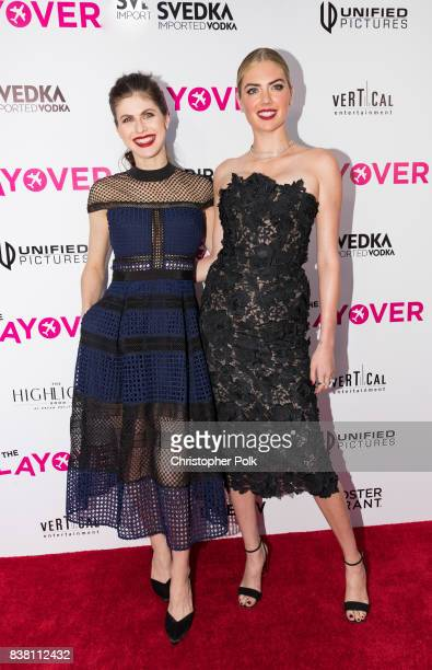 Alexandra Daddario and Kate Upton arrive to the Premiere Of DIRECTV And Vertical Entertainment's 'The Layover' at the ArcLight Hollywood on August 23...