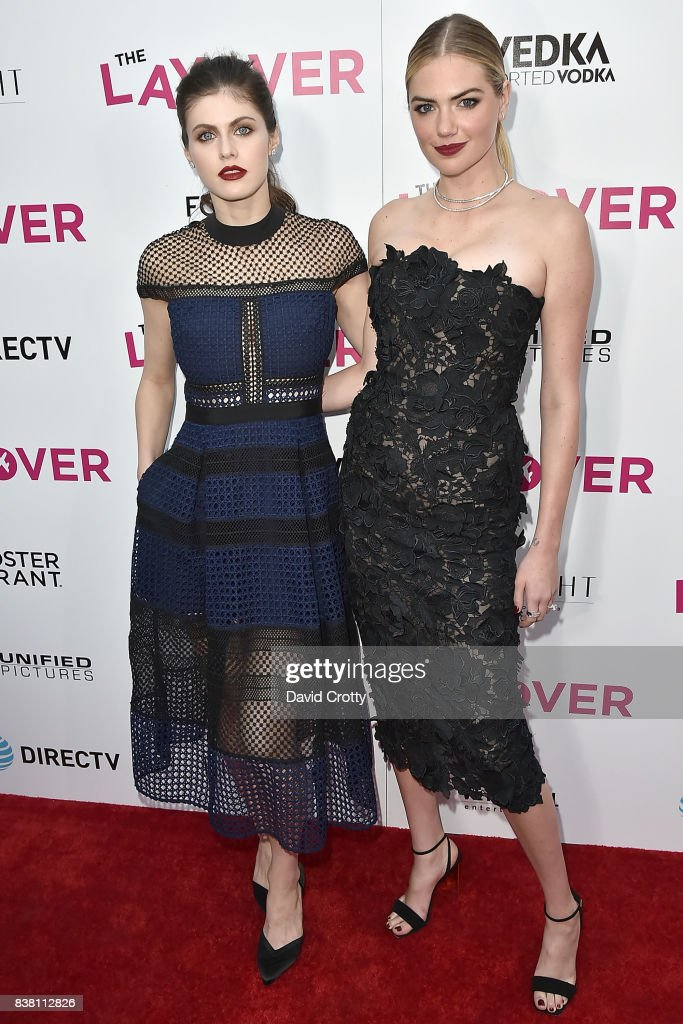 Alexandra Daddario and Kate Upton attend the Premiere Of DIRECTV And Vertical Entertainment's 'The Layover' - Arrivals at ArcLight Cinemas on August 23, 2017 in Hollywood, California.