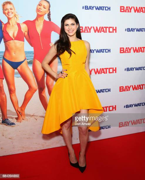 Alexandra Daddario arrives ahead of the Australian Premiere of Baywatch on May 18 2017 in Sydney Australia