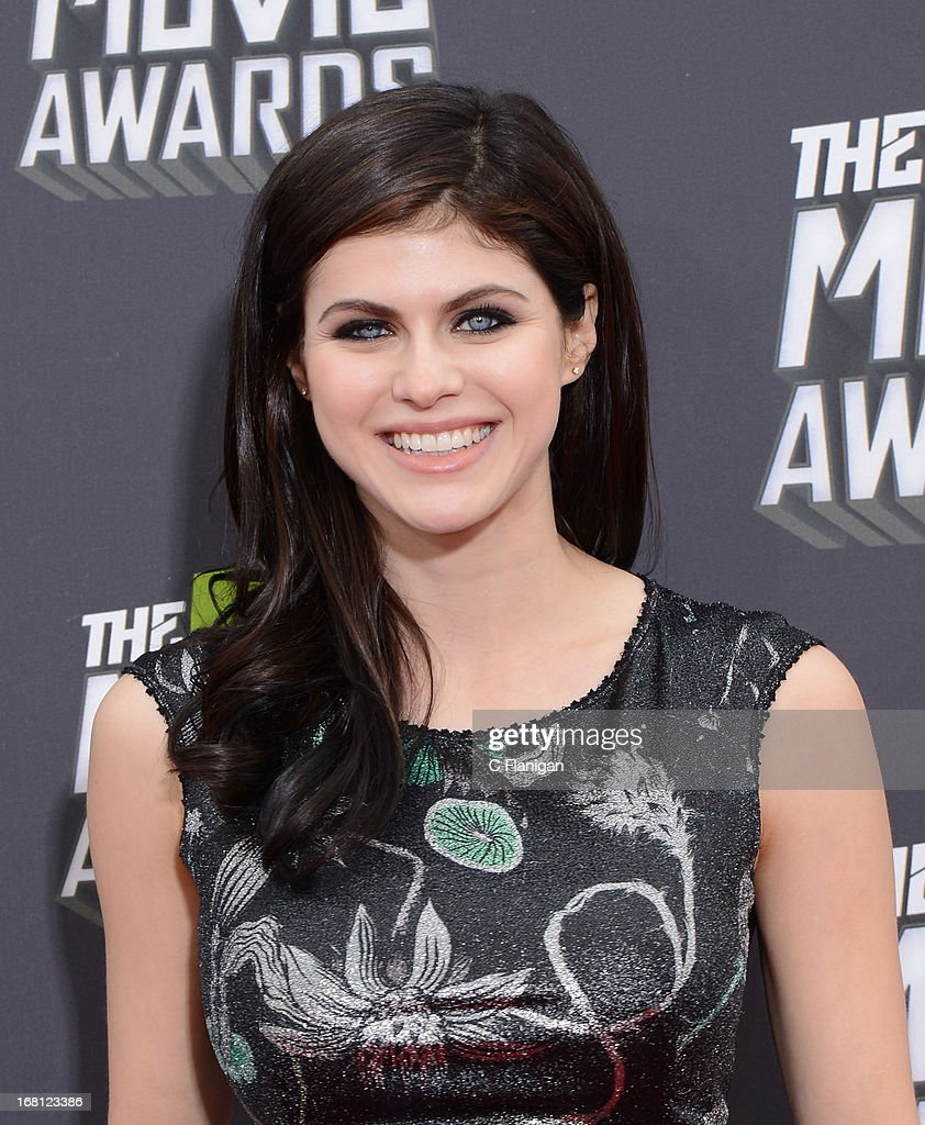 Alexandra Daddario arrives at the 2013 MTV Movie Awards at Sony Pictures Studios on April 14, 2013 in Culver City, California.
