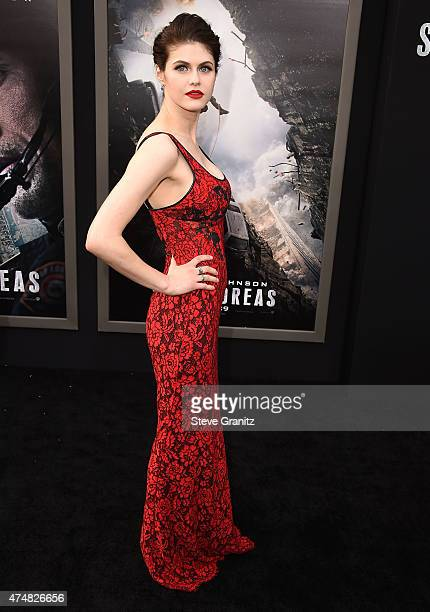 Alexandra Daddario arrives at the 'San Andreas' Los Angeles Premiere at TCL Chinese Theatre IMAX on May 26 2015 in Hollywood California