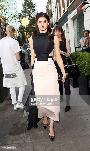 Alexandra Daddario at BamBou restaurant on May 21 2015 in London England