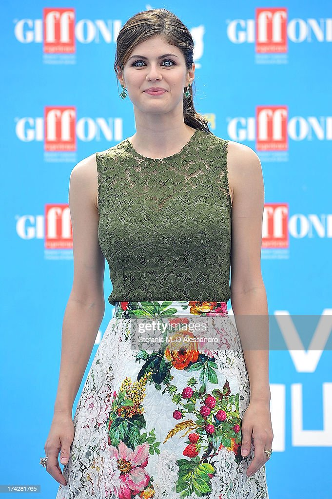 Alexandra Daddario attends 2013 Giffoni Film Festival photocall on July 23, 2013 in Giffoni Valle Piana, Italy.