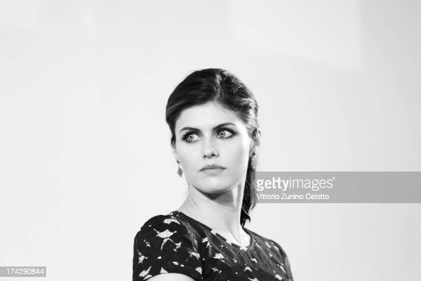 Alexandra Daddario attends 2013 Giffoni Film Festival press conference on July 23 2013 in Giffoni Valle Piana Italy
