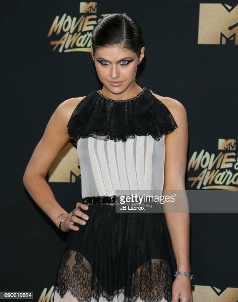 Alexandra Daddario attends the 2017 MTV Movie and TV Awards at The Shrine Auditorium on May 7 2017 in Los Angeles California