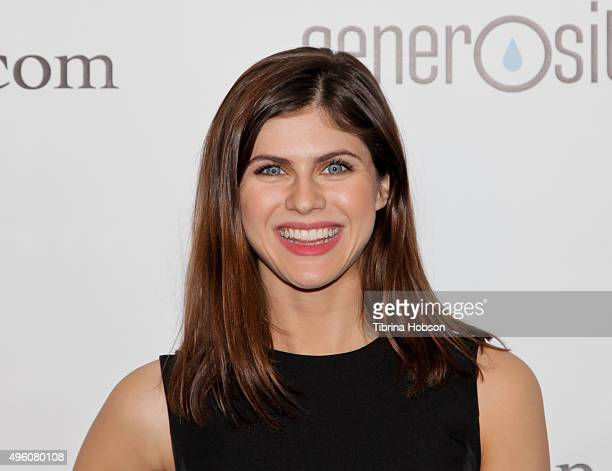 Alexandra Daddario attends the 7th Annual 'Night of Generosity' Gala benefiting generosityorg at the Beverly Wilshire Four Seasons Hotel on November...