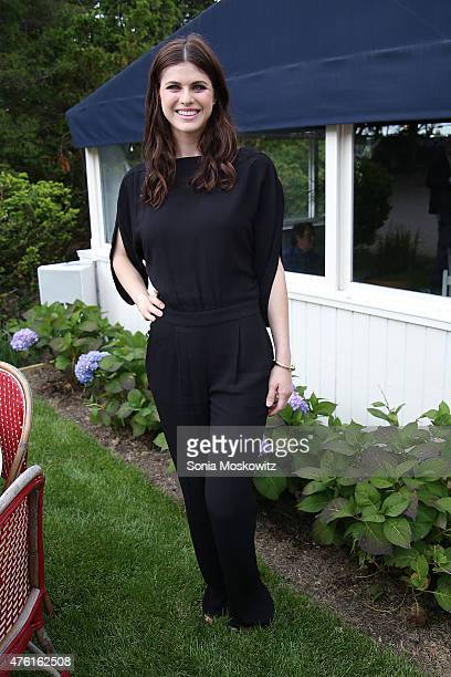 Alexandra Daddario attends the Beach Magazine Cover Party at Osteria Salina on June 6 2015 in Wainscott New York