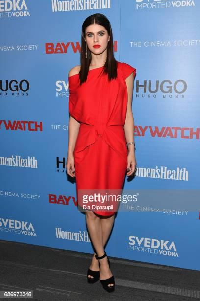 Alexandra Daddario attends The Cinema Society's Screening Of 'Baywatch' at Landmark Sunshine Cinema on May 22 2017 in New York City
