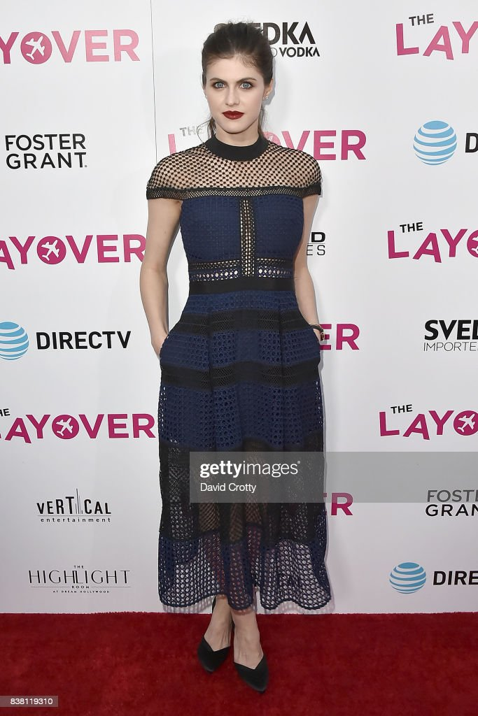 Alexandra Daddario attends the Premiere Of DIRECTV And Vertical Entertainment's 'The Layover' - Arrivals at ArcLight Cinemas on August 23, 2017 in Hollywood, California.