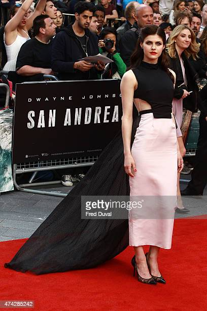 Alexandra Daddario attends the UK Premiere of 'San Andreas' at Odeon Leicester Square on May 21 2015 in London England