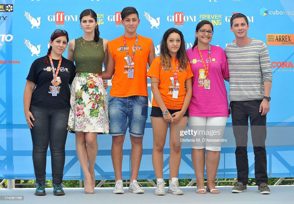 Alexandra Daddario, Logan Lerman and the jurors attend 2013 Giffoni Film Festival photocall on July 23, 2013 in Giffoni Valle Piana, Italy.