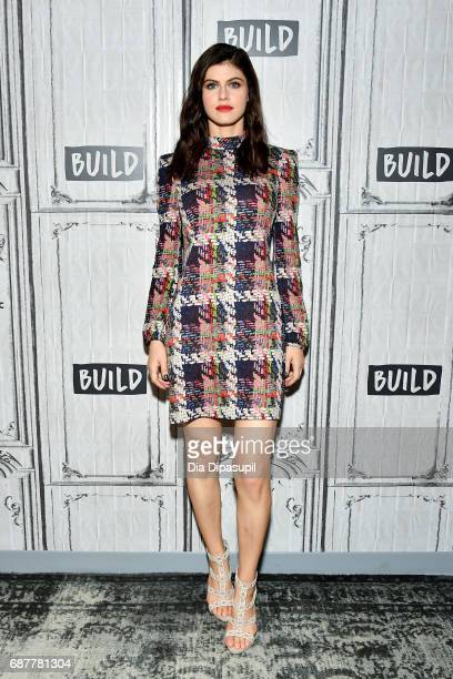 Alexandra Daddario visits the Build Series to discuss the new movie 'Baywatch' at Build Studio on May 24 2017 in New York City
