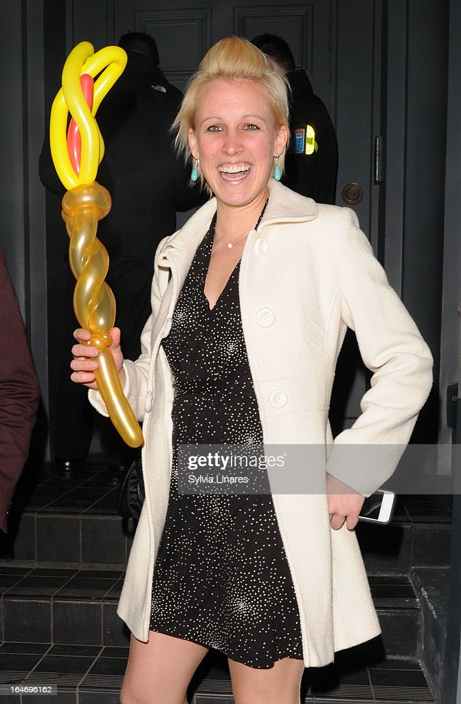 Alexandra Danson attends The Right To Play HOst Private Dinner For Barry The Dog Fitness Trainer held at N 3 on March 26, 2013 in London, England.