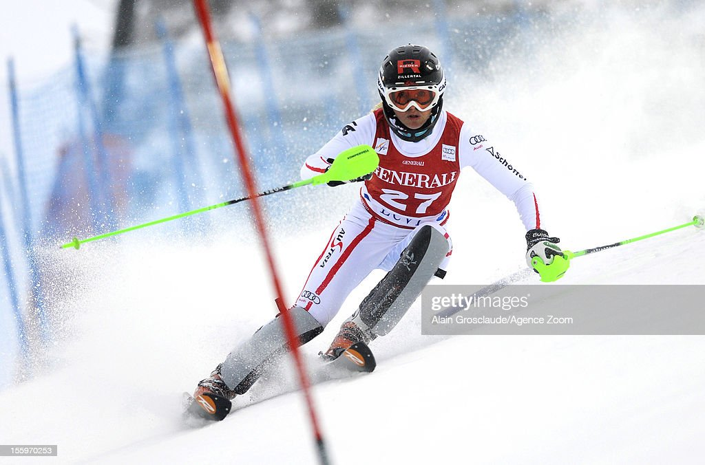 Alexandra Daum of Austria competes during the Audi FIS Alpine Ski World Cup Women's Slalom on November 10, 2012 in Levi, Finland.