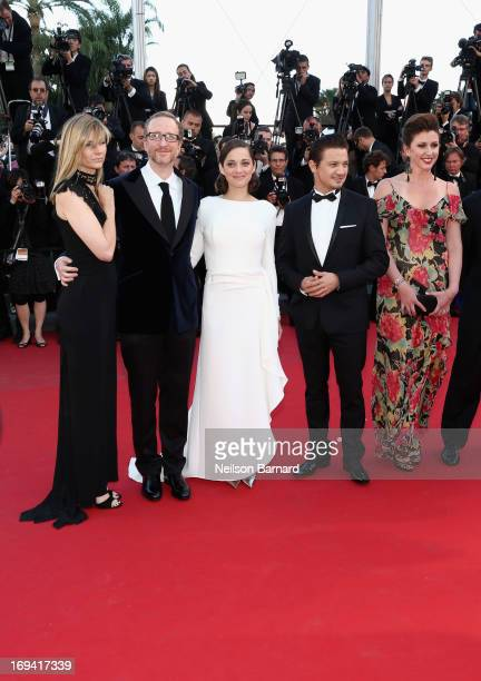 Alexandra Dickson Gray director James Gray actors Marion Cotillard Jeremy Renner attend the 'The Immigrant' premiere during The 66th Annual Cannes...
