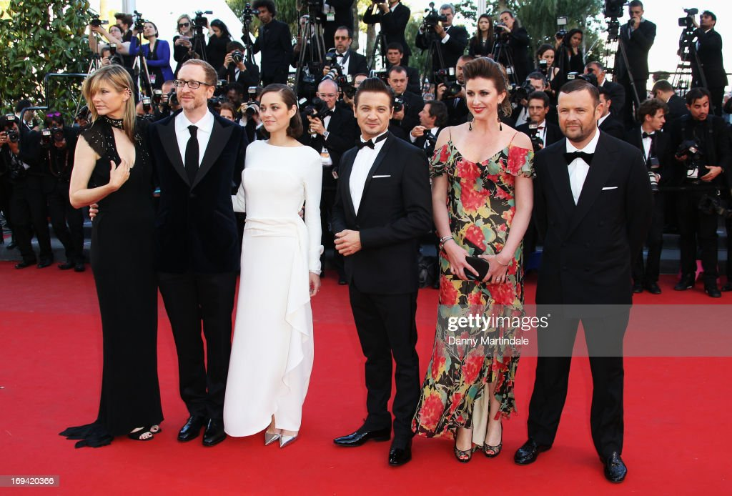 Alexandra Dickson Gray, director James Gray, actress Marion Cotillard, actor Jeremy Renner, Molly Conners and producer Christopher Woodrow attend the Premiere of 'The Immigrant' at The 66th Annual Cannes Film Festival at Palais des Festivals on May 24, 2013 in Cannes, France.