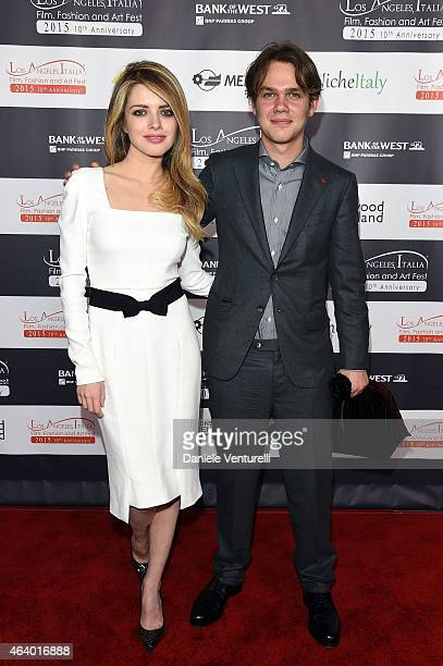 Alexandra Dinu and Ellar Coltrane Ellar Coltraneattends Los Angeles Italia Closing Night Ceremony at TCL Chinese 6 Theatres on February 20 2015 in...