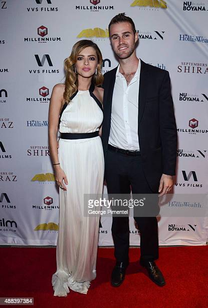 Alexandra Dinu and Jeffrey Greenstein attends the 'September Of Shiraz' TIFF dinner hosted by Holliswealth during the 2015 Toronto International Film...