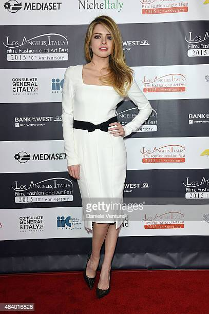 Alexandra Dinu attends Los Angeles Italia Closing Night Ceremony at TCL Chinese 6 Theatres on February 20 2015 in Hollywood California