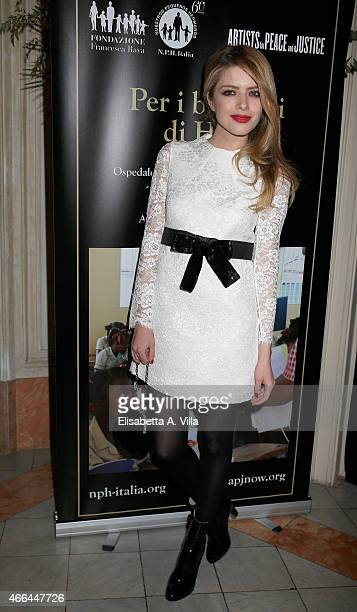 Alexandra Dinu attends the charity dinner organized by Fondazione Rava for the children of Haiti at Villa Letitia on March 15 2015 in Rome Italy