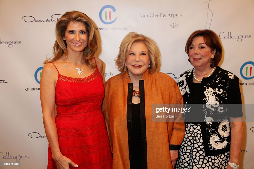 Alexandra Dwek, Philanthropist Wallis Annenberg, and Anne Johnson attend The Colleagues' 25th annual spring luncheon honoring Wallis Annenberg at the Beverly Wilshire Four Seasons Hotel on April 9, 2013 in Beverly Hills, California.