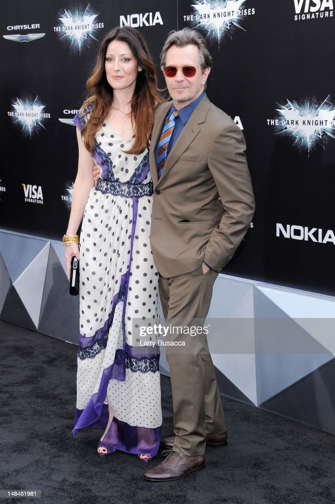 Alexandra Edenborough and <a gi-track='captionPersonalityLinkClicked' href=/galleries/search?phrase=Gary+Oldman&family=editorial&specificpeople=213839 ng-click='$event.stopPropagation()'>Gary Oldman</a> attend'The Dark Knight Rises' premiere at AMC Lincoln Square Theater on July 16, 2012 in New York City.