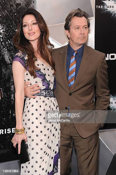 Alexandra Edenborough and Gary Oldman attend'The Dark Knight Rises' premiere at AMC Lincoln Square Theater on July 16 2012 in New York City