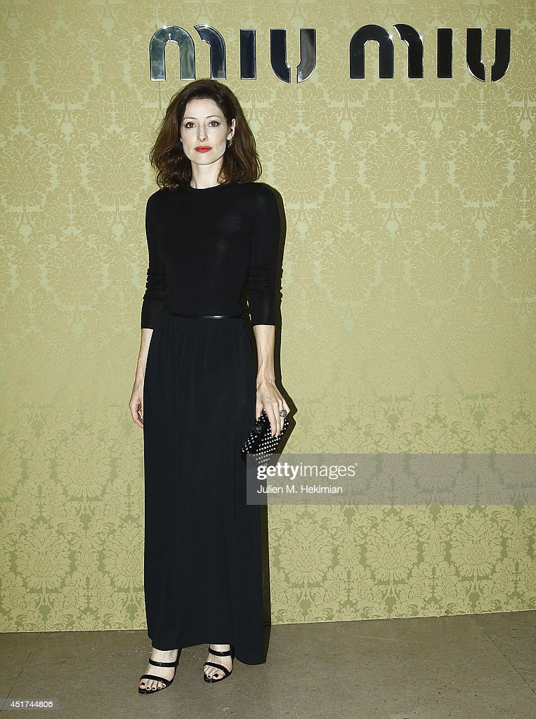 <a gi-track='captionPersonalityLinkClicked' href=/galleries/search?phrase=Alexandra+Edenborough&family=editorial&specificpeople=5581420 ng-click='$event.stopPropagation()'>Alexandra Edenborough</a> attends the Miu Miu Resort Collection 2015 at Palais d'Iena on July 5, 2014 in Paris, France.