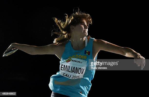 Alexandra Emilianov of Moldova in action during the Girls Discus Throw Final on day one of the IAAF World Youth Championships Cali 2015 on July 15...