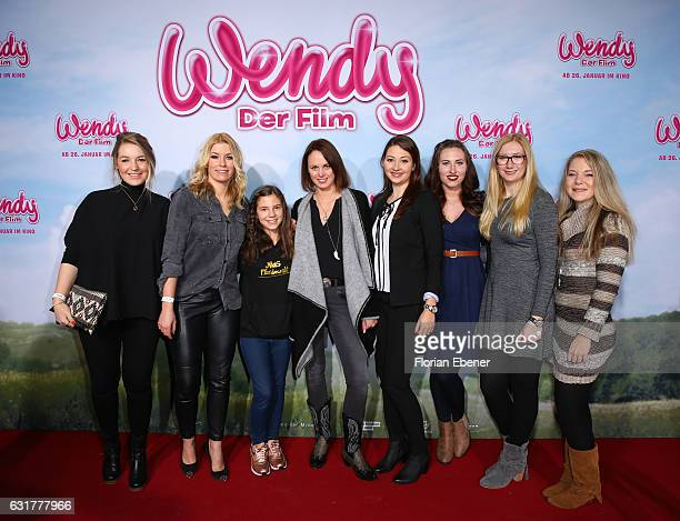 Alexandra Evang Annica Hansen Mia Jenny Julia Koester Damiana Spoeckinger Lara Sophie and Anja Mertens attend the premiere of 'Wendy Der Film' at...