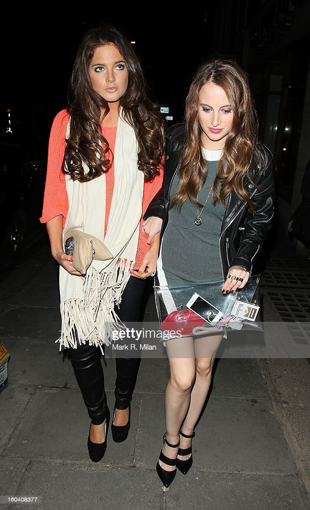 Alexandra Felstead and <a gi-track='captionPersonalityLinkClicked' href=/galleries/search?phrase=Rosie+Fortescue&family=editorial&specificpeople=7851088 ng-click='$event.stopPropagation()'>Rosie Fortescue</a> attending the Diet Coke private party held at Sketch restaurant on January 30, 2013 in London, England.