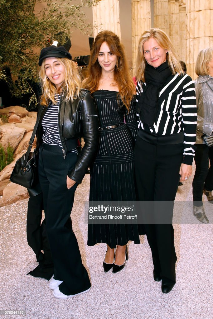 Alexandra Golovanoff, Alexia Niedzelski and Elizabeth von Guttman attend the Chanel Cruise 2017/2018 Collection Show at Grand Palais on May 3, 2017 in Paris, France.
