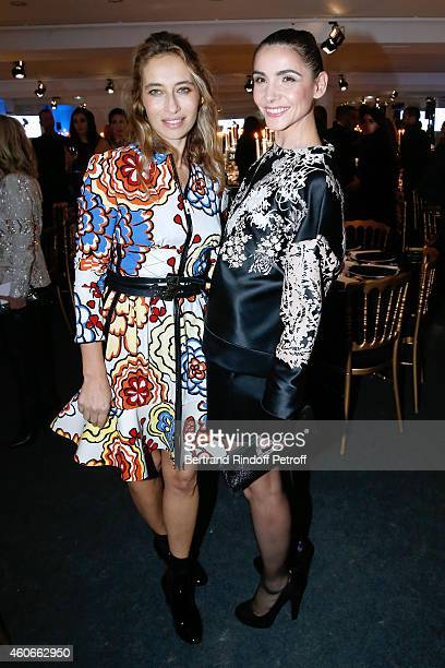 Alexandra Golovanoff and Clotilde Courau Princess of Savoy attend the Annual Charity Dinner hosted by the AEM Association Children of the World for...
