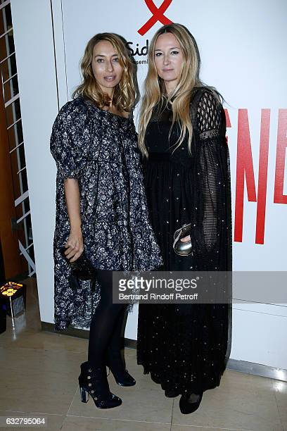 Alexandra Golovanoff and Julie de Libran attend the Sidaction Gala Dinner 2017 Haute Couture Spring Summer 2017 show as part of Paris Fashion Week on...