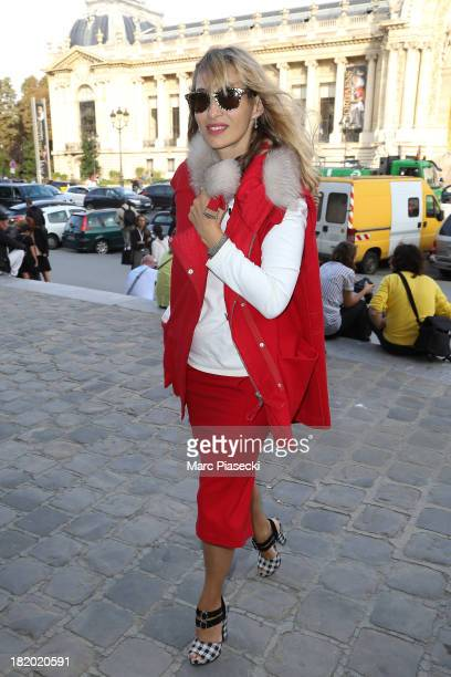 Alexandra Golovanoff arrives to attend the Vanessa Bruno show as part of the Paris Fashion Week Womenswear Spring/Summer 2014 on September 27 2013 in...