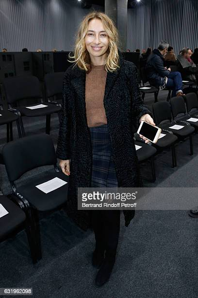 Alexandra Golovanoff attends the Balenciaga Menswear Fall/Winter 20172018 show as part of Paris Fashion Week on January 18 2017 in Paris France