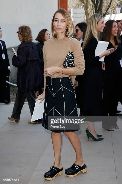 Alexandra Golovanoff attends the Celine show as part of the Paris Fashion Week Womenswear Fall/Winter 2015/2016 on March 8 2015 in Paris France