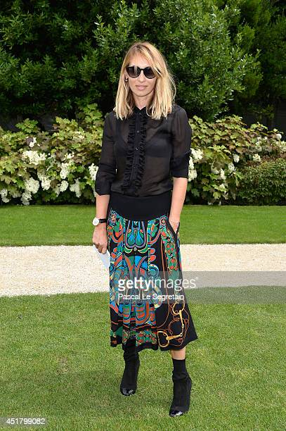 Alexandra Golovanoff attends the Christian Dior show as part of Paris Fashion Week Haute Couture Fall/Winter 20142015 on July 7 2014 in Paris France