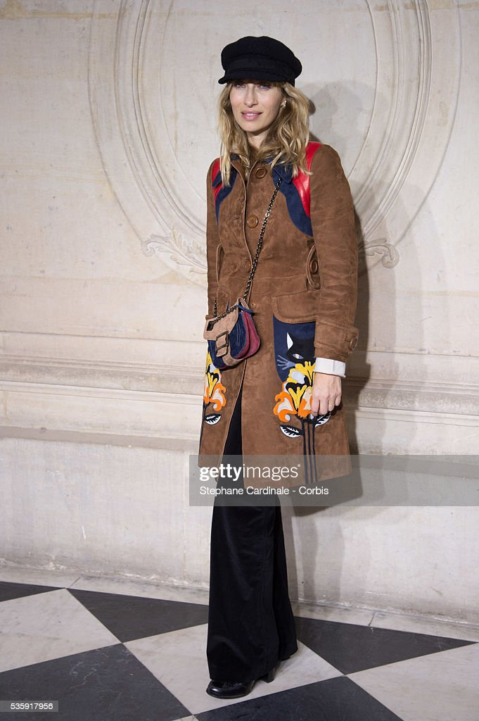 Alexandra Golovanoff attends the Christian Dior show as part of Paris Fashion Week Haute Couture Spring/Summer 2014, in Paris.