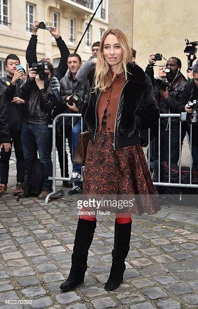 Alexandra Golovanoff attends the Dior show as part of Paris Fashion Week Haute Couture Spring/Summer 2015 on January 26 2015 in Paris France