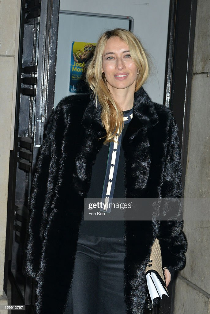 Alexandra Golovanoff attends the Giorgio Armani Prive Spring/Summer 2013 Haute-Couture show as part of Paris Fashion Week at Theatre National de Chaillot on January 22, 2013 in Paris, France.