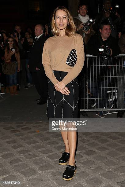 Alexandra Golovanoff attends the Givenchy show during Paris Fashion Week Fall Winter 2015/2016 on March 8 2015 in Paris France