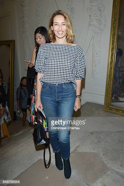 Alexandra Golovanoff attends the JeanPaul Gaultier Haute Couture Fall/Winter 20162017 show as part of Paris Fashion Week on July 6 2016 in Paris...