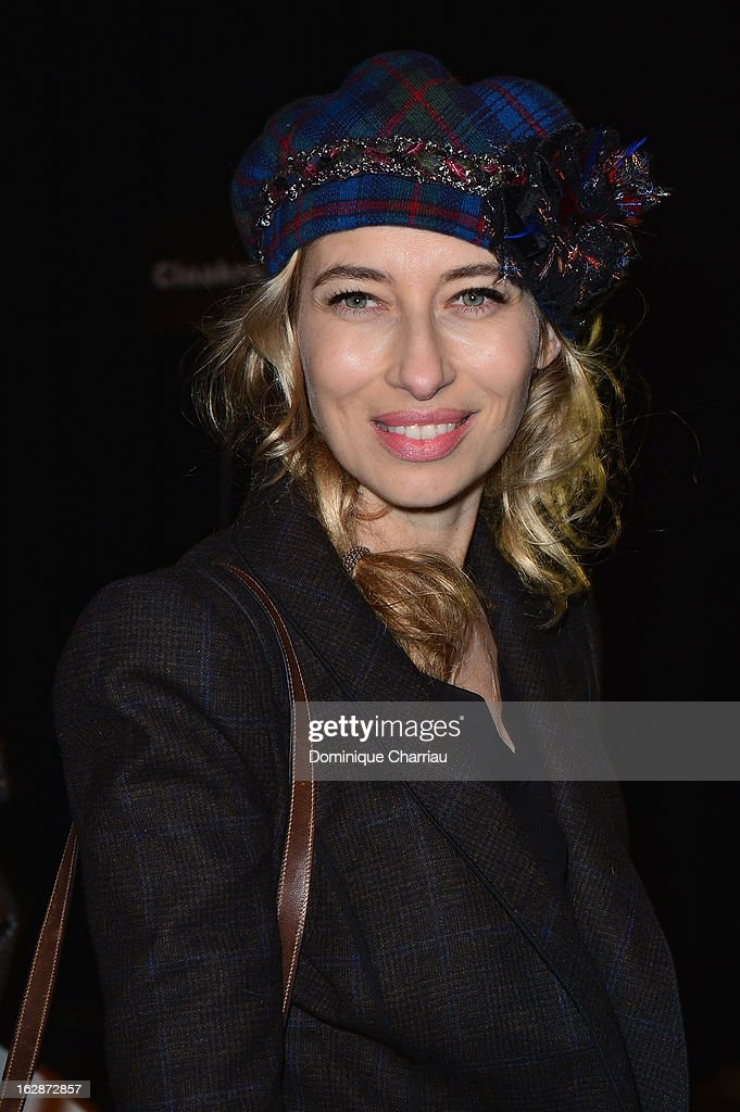 Alexandra Golovanoff attends the Lanvin Fall/Winter 2013 Ready-to-Wear show as part of Paris Fashion Week on February 28, 2013 in Paris, France.