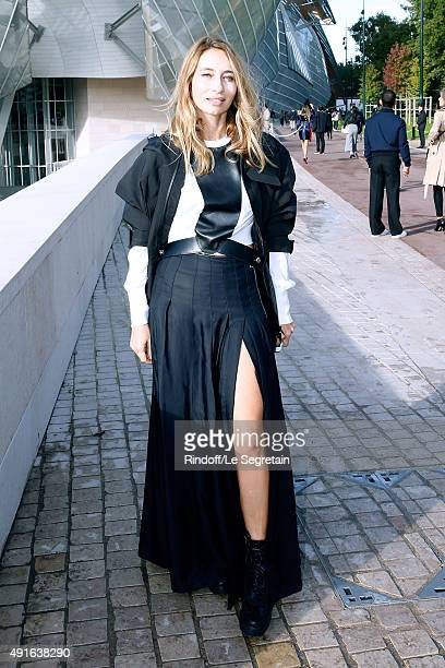 Alexandra Golovanoff attends the Louis Vuitton show as part of the Paris Fashion Week Womenswear Spring/Summer 2016 Held at Fondation Louis Vuitton...