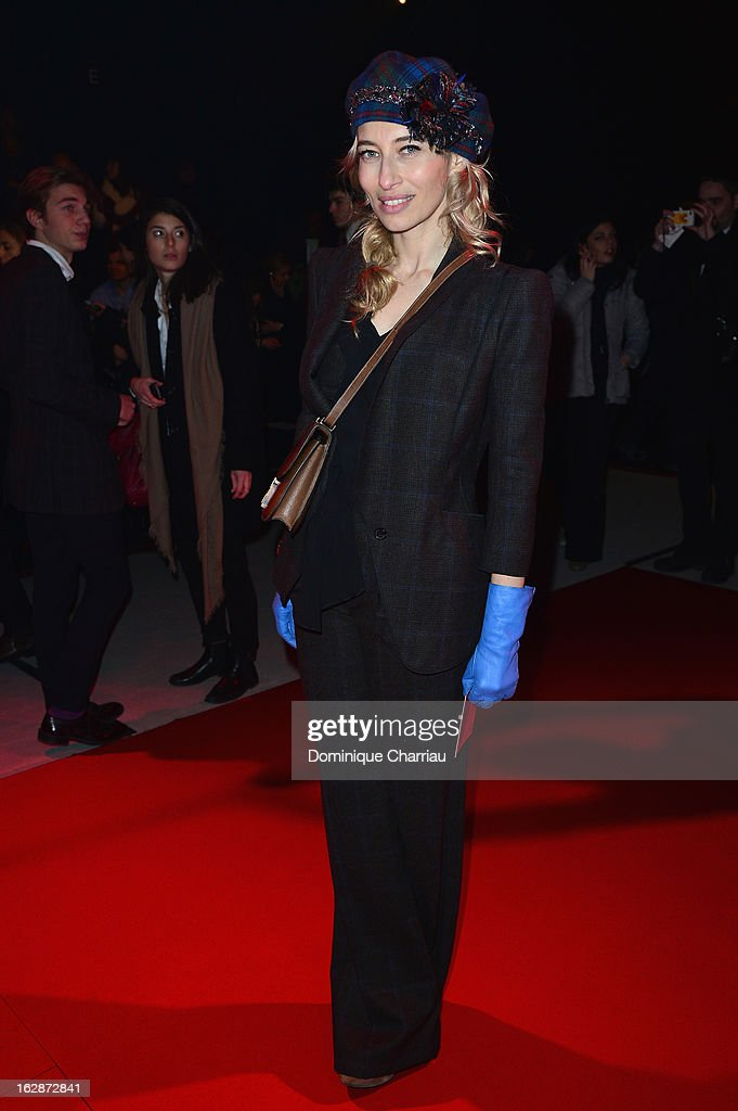 Alexandra Golovanoff attends the Nina Ricci Fall/Winter 2013 Ready-to-Wear show as part of Paris Fashion Week on February 28, 2013 in Paris, France.