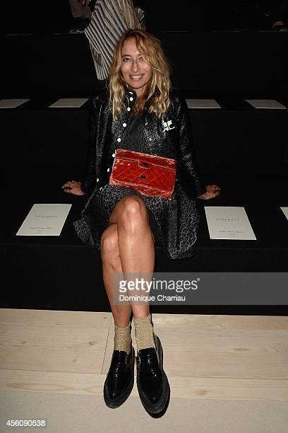Alexandra Golovanoff attends the Nina Ricci show as part of the Paris Fashion Week Womenswear Spring/Summer 2015 on September 25 2014 in Paris France