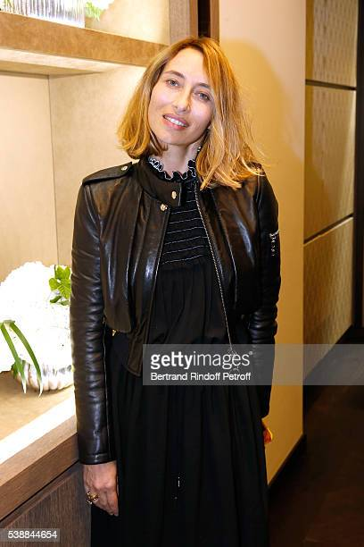 Alexandra Golovanoff attends the Opening of the Boutique Buccellati situated 1 Rue De La Paix in Paris on June 8 2016 in Paris France