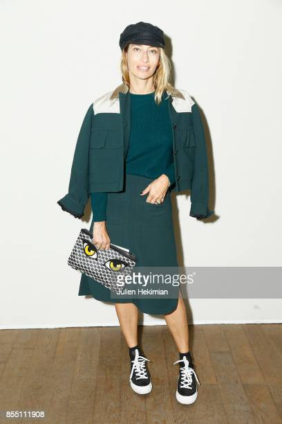 Alexandra Golovanoff attends the Paco Rabanne show as part of the Spring Summer 2018 Womenswear Show at Grand Palais on September 28 2017 in Paris...