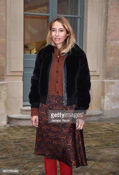 Alexandra Golovanoff attends the Schiaparelli show as part of Paris Fashion Week Haute Couture Spring/Summer 2015 on January 26 2015 in Paris France